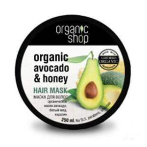 Маска для волос медовое авокадо organic shop (Organic Shop)
