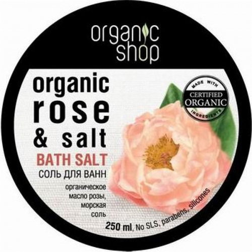 Соль для ванн «дикая роза» organic shop