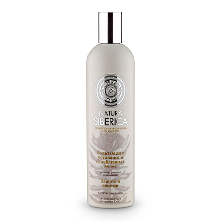 Бальзам для уставших и ослабленных волос защита и энергия natura siberica