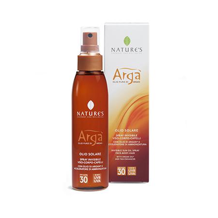Nature's arga масло для лица и тела spf-30