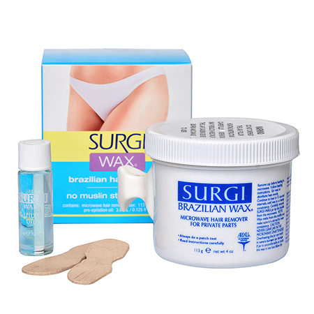 Набор с бразильским воском для удаления волос в интимных зонах  surgi (Surgi)