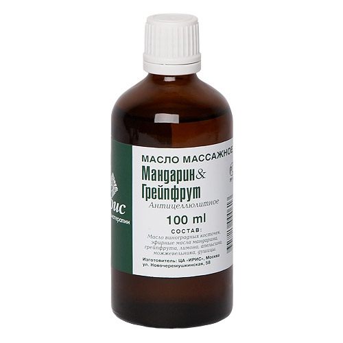 Массажное масло мандарин-грейпфрут iris (IRIS)