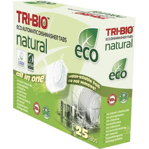 Натуральные эко таблетки для посудомоечных машин tri-bio
