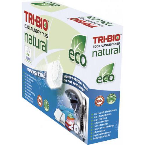 Натуральные эко таблетки для стирки tri-bio