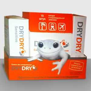 Лучшая защита от пота: антиперспирант drydry + drydry sensitive + салфетки drydry D5661