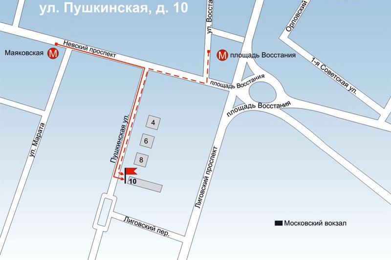 Пункт выдачи Деошоп.ру в Санкт-Петербурге Площадь Восстания