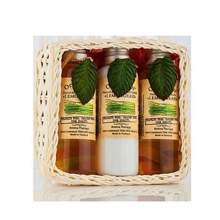 Набор средств для волос и тела лемонграсс (360 мл) organic tai