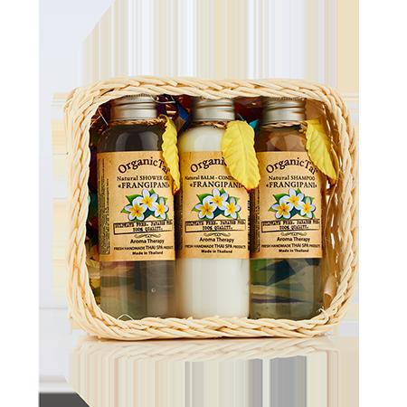 Набор средств для волос и тела франжипани (360 мл) organic tai