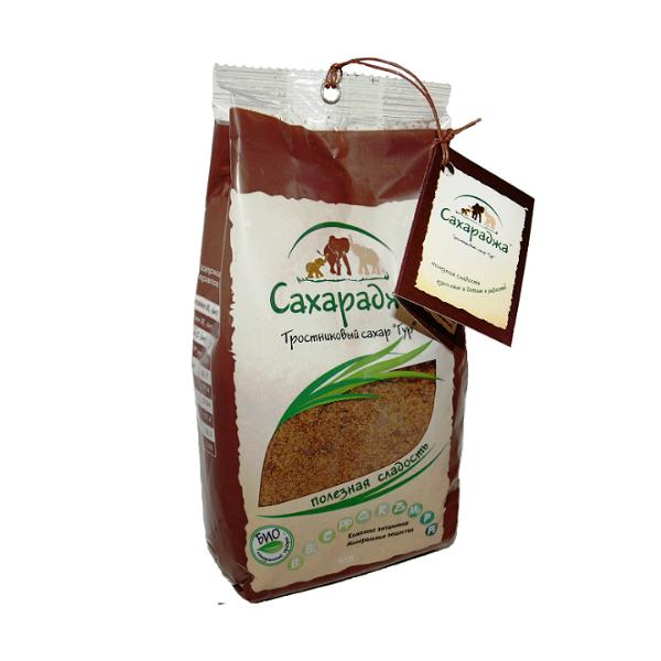 Тростниковый сахар гур оригинальный сахараджа (450 гр) (Акшая Инвайт)