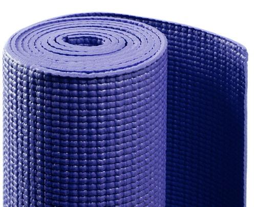 Коврик для йоги асана стандарт (синий) (Yoga)