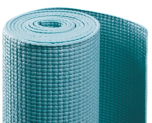 Коврик для йоги асана стандарт (голубой) (Yoga)