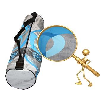 Сумка для коврика сурья намаскар (серо-голубая) (Yoga)