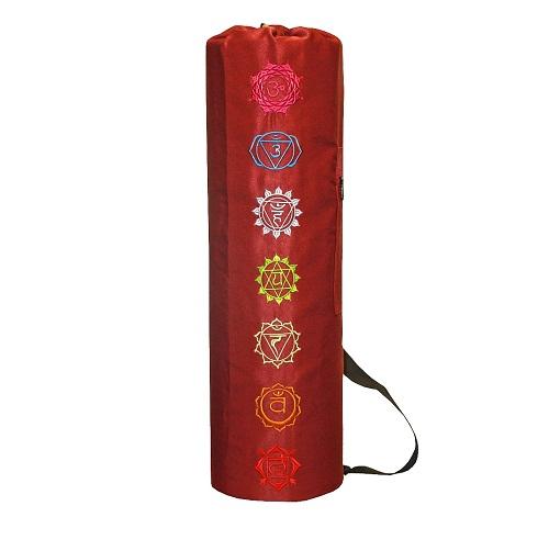 Чехол для коврика пробуждение чакр саржа (красный) (Yoga)