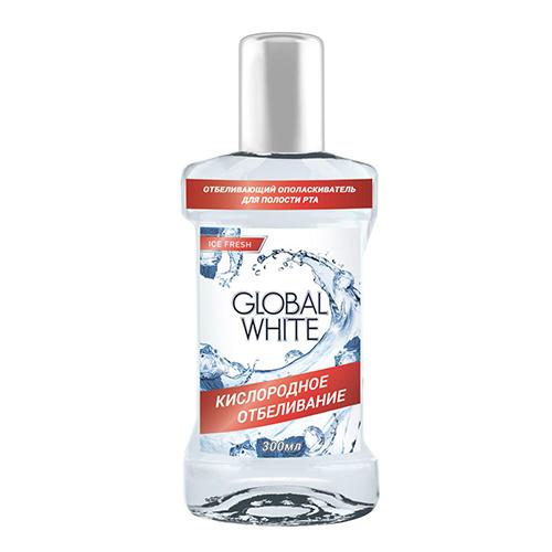 Отбеливающий ополаскиватель для полости рта global white (Global White)