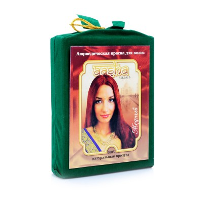 Травяная краска для волос с лечебным эффектом (медный) ааша (ААША)