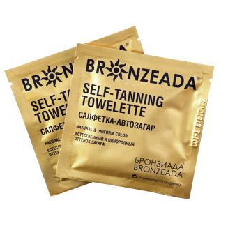 Салфетка-автозагар bronzeada (бронзиада) 4 шт (Bronzeada)