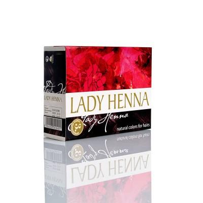 Краска для волос на основе хны lady henna aasha (цвет темно-коричневый) ааша (ААША)