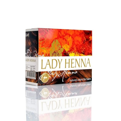 Краска для волос на основе хны lady henna aasha (цвет каштановый) ааша (ААША)