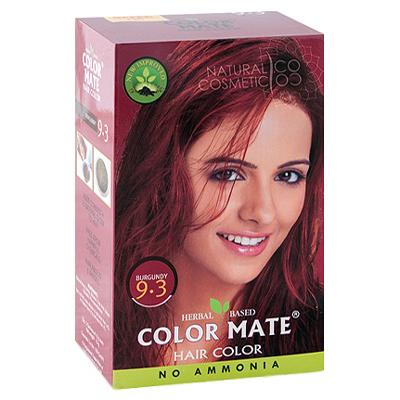 Henna Industries Pvt Ltd Натуральная краска для волос на основе хны color mate (тон 9.3, бургундия) без аммиака