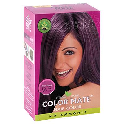 Henna Industries Pvt Ltd Натуральная краска для волос на основе хны color mate  (тон 9.5, красное дерево) без аммиака