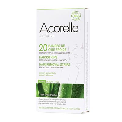 Восковые полоски для депиляции лица пчелиное молочко acorelle (Acorelle)