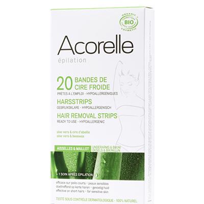 Восковые полоски для депиляции области бикини и подмышек пчелиное молочко acorelle (Acorelle)
