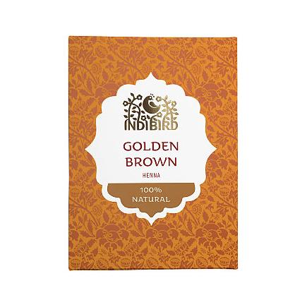 Аюрведическая краска на основе индийской хны золотисто-коричневая амрита