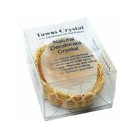 Tawas Crystal Кристалл свежести в бамбуковой корзинке и пластиковой коробке