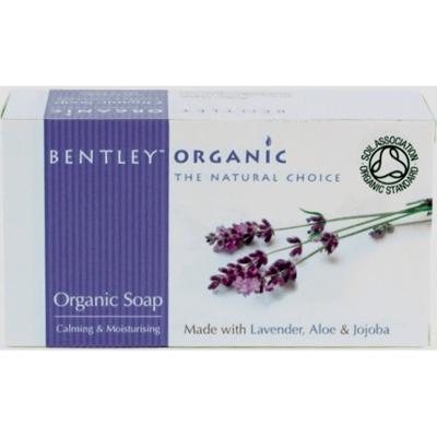 Мыло успокаивающее и увлажняющее. с лавандой, алоэ и жожоба bentley organic (Bentley Organic)