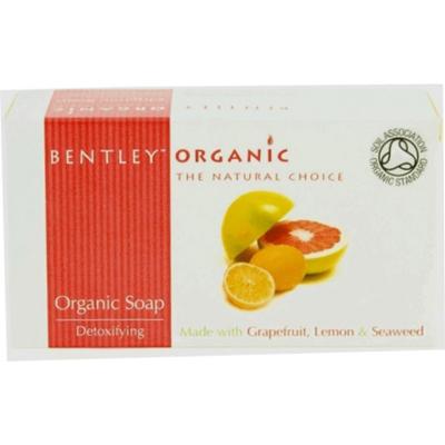 Мыло детокс с грейпфрутом, лимоном и водорослями  bentley organic (Bentley Organic)