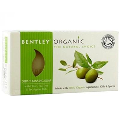 Мыло глубокоочищающее  с оливой, чайным деревом и эвкалиптом  bentley organic