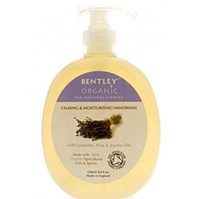 Мыло жидкое. успокаивающее и увлажняющее. с лавандой, алоэ и жожоба bentley organic (Bentley Organic)