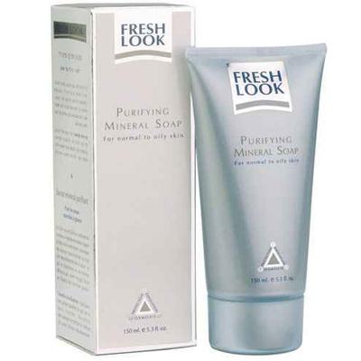 Минеральное мыло для лица для нормальной и жирной кожи  fresh look
