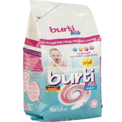 Концентрированный стиральный порошок compact baby для детского белья burti