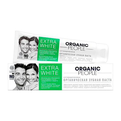 Зубная паста extra white organic people