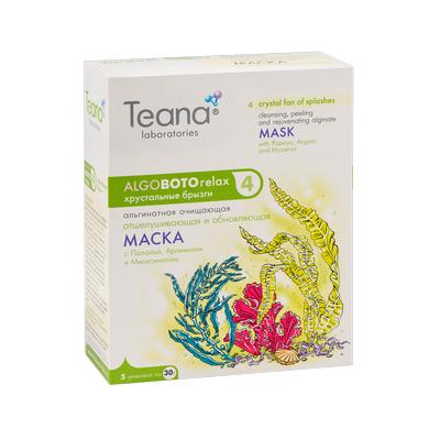 Отшелушивающая очищающая маска хрустальный ветер брызг teana (Teana)