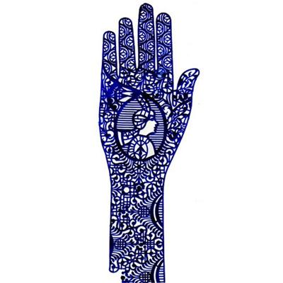 Трафарет для мехенди рука pranastudio (Pranastudio)