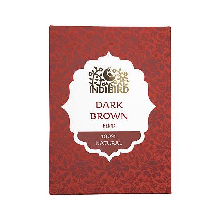 Аюрведическая краска на основе индийской хны темно-коричневая амрита