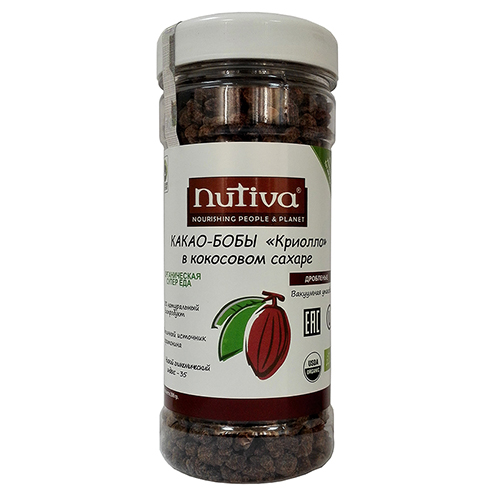Кусочки какао бобов в кокосовом сахаре nutiva (Nutiva)