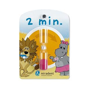 Детские песочные часы для контроля времени чистки зубов (2 минуты) miradent/docdont