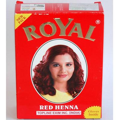 Хна натуральная для окрашивания волос, бровей и ресниц красная royal