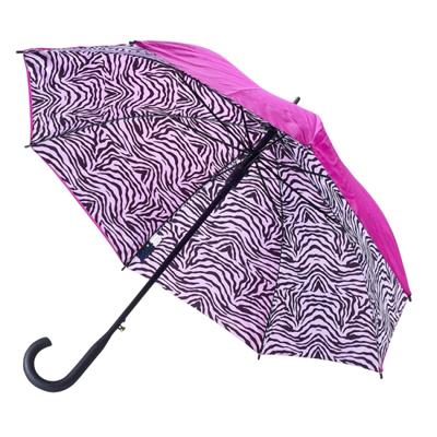 Зонт-трость двустороннего рисунка зебра galleria