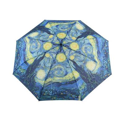 Складной зонт автомат по картине ван гога звездная ночь galleria (Galleria)