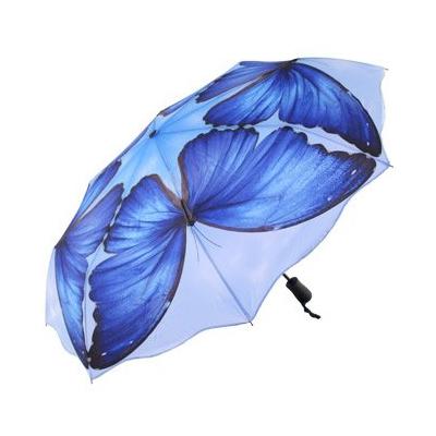 Складной зонт автомат с изображением бабочек голубые морфо galleria