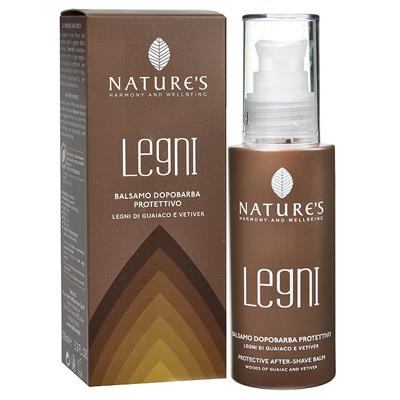 Legni бальзам после бритья защитный с гваяковым деревом и ветивером natures (Natures)