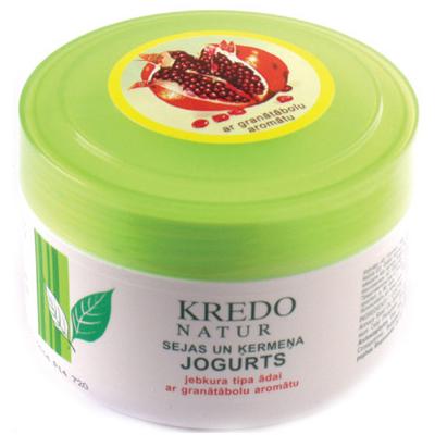 Kredo natur йогурт для лица и тела с ароматом граната dzintars (Dzintars)