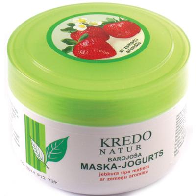 Kredo natur питательная маска-йогурт для любого типа волос с ароматом клубники dzintars (Dzintars)