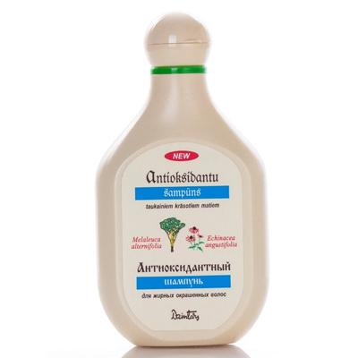 Антиоксидантный шампунь для жирных окрашеных волос dzintars