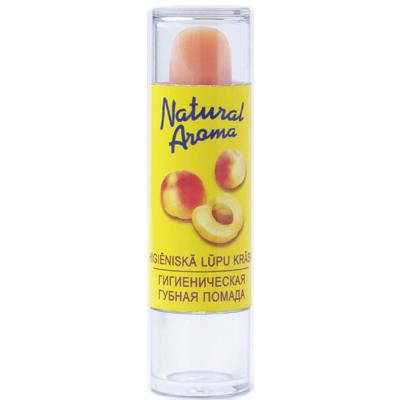Natural aroma гигиеническая помада с ароматом абрикоса dzintars
