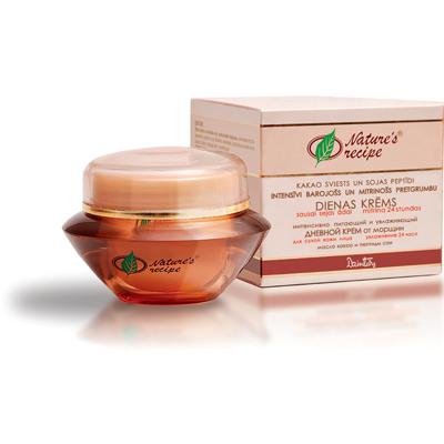 Natures recipe интенсивно питающий и увлажняющий дневной крем от морщин для сухой кожи лица dzintars